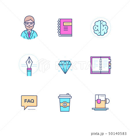 Business and finance concepts - line design style icons set 50140583
