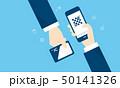 QRコード決済とICカードのイメージ 50141326