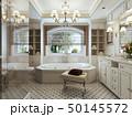 浴室 インテリア クラシックのイラスト 50145572