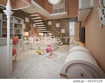 Children's room in the neoclassical style 50147129