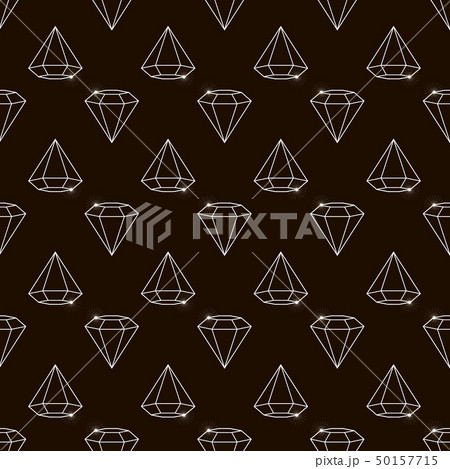 Outline Vector seamless retro pattern, with 50157715