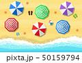 ビーチ 浜辺 夏のイラスト 50159794