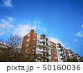 cloudy clear sky with vintage building 50160036