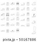 女性の靴のイラストセット 50167886