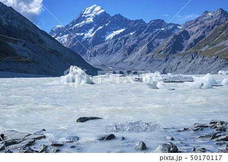 マウントクックと氷河の絶景 50170117