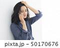 女性 ヘアスタイル スマホの写真 50170676