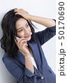 女性 ヘアスタイル ミドルの写真 50170690