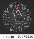 Vector black linear banner of apron 50175580