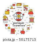 Vector banking worldwide transfers linear concept 50175713