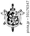 viking silhouette on white 50176347