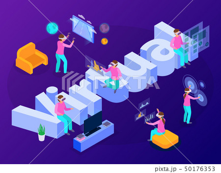 Virtual Reality Isometric Composition 50176353