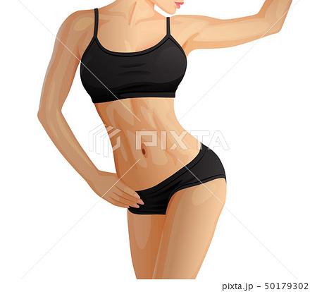 Slender sporty woman, fitness girl in sportswear 50179302
