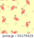 フラミンゴ パターン 柄のイラスト 50179429