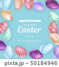 Elegant writing amidst Easter eggs 50184946