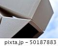 イメージ素材、箱、階段、雲、空、白、黒、立体、空間 50187883