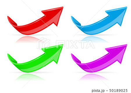 Up 3d arrows. Colored 3d icons set 50189025