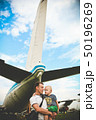 航空機 飛行機 子の写真 50196269