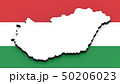 3D map of Hungary on the national flag 50206023
