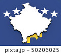 3D map of Kosovo on the national flag 50206025