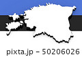 3D map of Estonia on the national flag 50206026