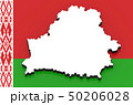 3D map of Belarus on the national flag 50206028