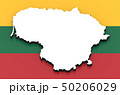 3D map of Lithuania on the national flag 50206029