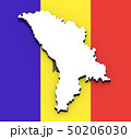 3D map of Moldova on the national flag 50206030