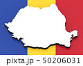 3D map of Romania on the national flag 50206031