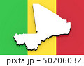 3D map of Mali on the national flag 50206032