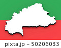 3D map of Burkina Faso on the national flag 50206033