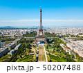 Eiffel Tower aerial view, Paris 50207488