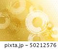 波紋 麻の葉模様 背景 金 50212576