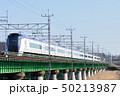 多摩川橋梁を渡る中央線E353系特急電車 50213987