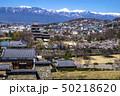 信州 長野県松本市、国宝松本城の桜と北アルプス 50218620