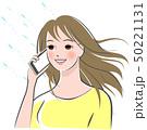 女性 携帯電話 電話のイラスト 50221131