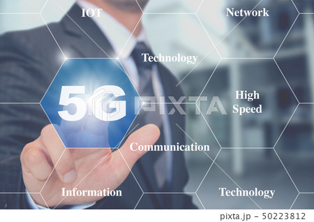 5G次世代モバイル通信をタッチ touching 5g next mobile network 50223812
