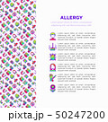 Allergy concept with thin line icons 50247200