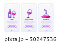 Wine thin line icons set 50247536
