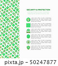 Security and protection concept with line icons 50247877