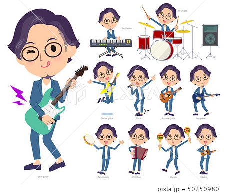 blue suit Glasses man_pop music 50250980