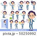 男性 若い 眼鏡のイラスト 50250992