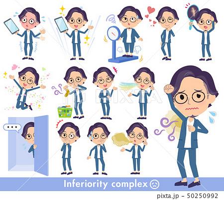 blue suit Glasses man_complex 50250992