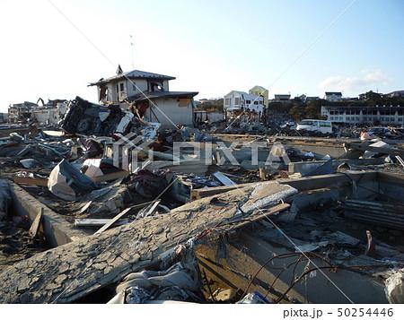 東日本大震災 石巻 倒壊家屋 50254446