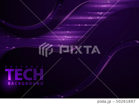 Tech Background with Purple Elements 50261897