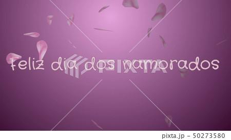 Feliz dia dos Namorados, Happy Valentine's day in portuguese language, greeting card 50273580