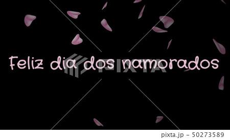 Feliz dia dos Namorados, Happy Valentine's day in portuguese language, greeting card 50273589