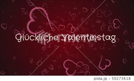Gluckliche Valentinstag, Happy Valentine's day in german language, greeting card 50273618