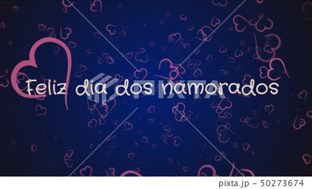 Feliz dia dos Namorados, Happy Valentine's day in portuguese language, greeting card 50273674