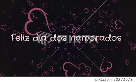 Feliz dia dos Namorados, Happy Valentine's day in portuguese language, greeting card 50273678