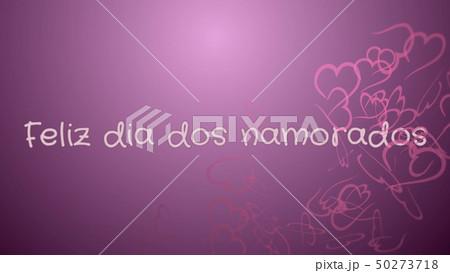 Feliz dia dos Namorados, Happy Valentine's day in portuguese language, greeting card 50273718